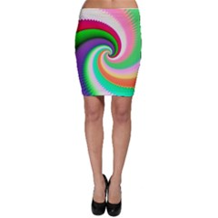 Colorful Spiral Dragon Scales   Bodycon Skirt by designworld65