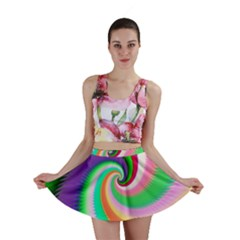 Colorful Spiral Dragon Scales   Mini Skirt by designworld65