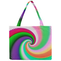 Colorful Spiral Dragon Scales   Mini Tote Bag by designworld65