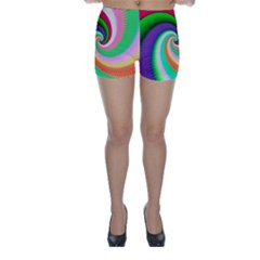 Colorful Spiral Dragon Scales   Skinny Shorts by designworld65