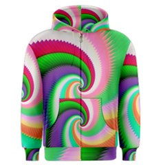 Colorful Spiral Dragon Scales   Men s Zipper Hoodie by designworld65