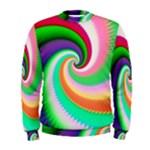 Colorful Spiral Dragon Scales   Men s Sweatshirt