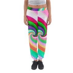 Colorful Spiral Dragon Scales   Women s Jogger Sweatpants by designworld65