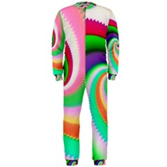 Colorful Spiral Dragon Scales   Onepiece Jumpsuit (men)  by designworld65