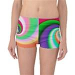 Colorful Spiral Dragon Scales   Reversible Boyleg Bikini Bottoms
