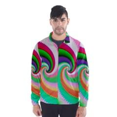 Colorful Spiral Dragon Scales   Wind Breaker (men) by designworld65