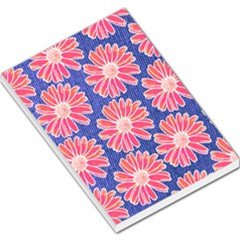 Pink Daisy Pattern Large Memo Pads by DanaeStudio