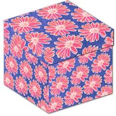 Pink Daisy Pattern Storage Stool 12   by DanaeStudio