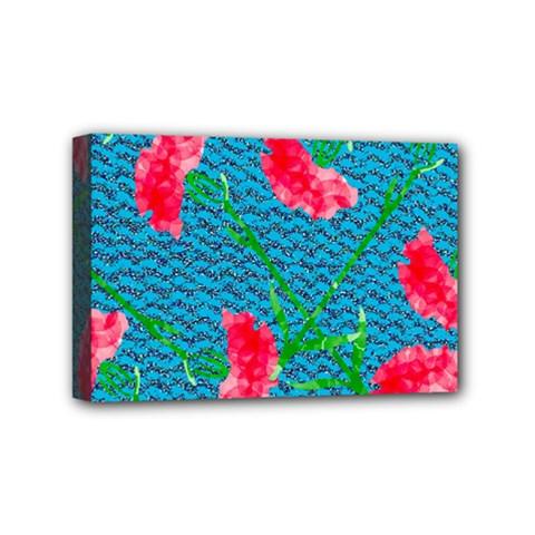 Carnations Mini Canvas 6  X 4  by DanaeStudio