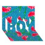 Carnations BOY 3D Greeting Card (7x5)