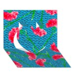 Carnations Heart 3D Greeting Card (7x5)