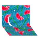 Carnations Circle 3D Greeting Card (7x5)