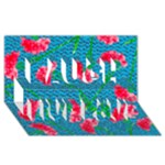 Carnations Laugh Live Love 3D Greeting Card (8x4)