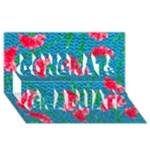 Carnations Congrats Graduate 3D Greeting Card (8x4)
