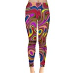 Abstract Shimmering Multicolor Swirly Leggings