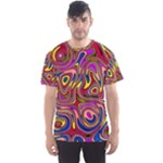 Abstract Shimmering Multicolor Swirly Men s Sport Mesh Tee