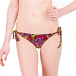 Abstract Shimmering Multicolor Swirly Bikini Bottom