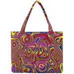 Abstract Shimmering Multicolor Swirly Mini Tote Bag