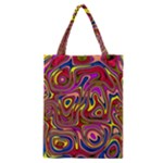 Abstract Shimmering Multicolor Swirly Classic Tote Bag