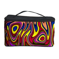 Abstract Shimmering Multicolor Swirly Cosmetic Storage Case by designworld65