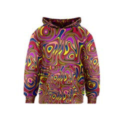 Abstract Shimmering Multicolor Swirly Kids  Pullover Hoodie by designworld65