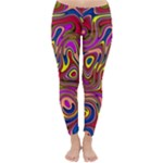 Abstract Shimmering Multicolor Swirly Winter Leggings