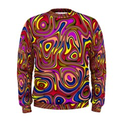 Abstract Shimmering Multicolor Swirly Men s Sweatshirt by designworld65