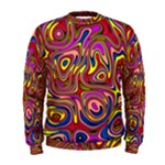 Abstract Shimmering Multicolor Swirly Men s Sweatshirt