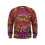 Abstract Shimmering Multicolor Swirly Kids  Sweatshirt