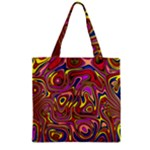 Abstract Shimmering Multicolor Swirly Zipper Grocery Tote Bag