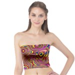 Abstract Shimmering Multicolor Swirly Tube Top