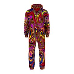 Abstract Shimmering Multicolor Swirly Hooded Jumpsuit (kids) by designworld65
