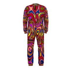 Abstract Shimmering Multicolor Swirly Onepiece Jumpsuit (kids) by designworld65