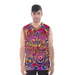 Abstract Shimmering Multicolor Swirly Men s Basketball Tank Top