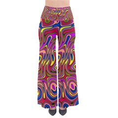 Abstract Shimmering Multicolor Swirly Pants by designworld65