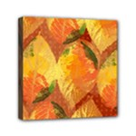 Fall Colors Leaves Pattern Mini Canvas 6  x 6