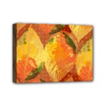 Fall Colors Leaves Pattern Mini Canvas 7  x 5