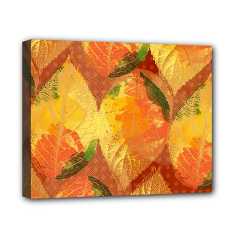 Fall Colors Leaves Pattern Canvas 10  X 8  by DanaeStudio