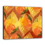 Fall Colors Leaves Pattern Canvas 20  x 16