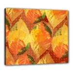 Fall Colors Leaves Pattern Canvas 24  x 20