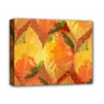Fall Colors Leaves Pattern Deluxe Canvas 14  x 11