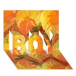 Fall Colors Leaves Pattern BOY 3D Greeting Card (7x5)