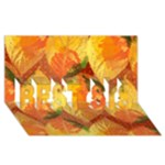 Fall Colors Leaves Pattern BEST SIS 3D Greeting Card (8x4)