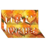 Fall Colors Leaves Pattern Best Wish 3D Greeting Card (8x4)