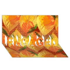Fall Colors Leaves Pattern Engaged 3d Greeting Card (8x4) by DanaeStudio