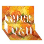 Fall Colors Leaves Pattern THANK YOU 3D Greeting Card (7x5)