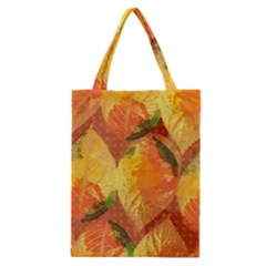 Fall Colors Leaves Pattern Classic Tote Bag by DanaeStudio