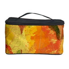 Fall Colors Leaves Pattern Cosmetic Storage Case by DanaeStudio