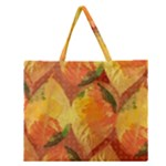 Fall Colors Leaves Pattern Zipper Large Tote Bag