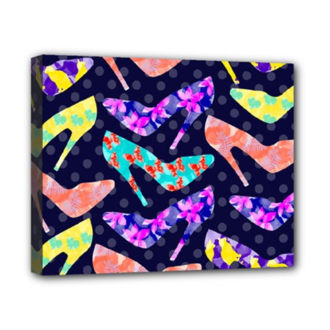Colorful High Heels Pattern Canvas 10  X 8  by DanaeStudio